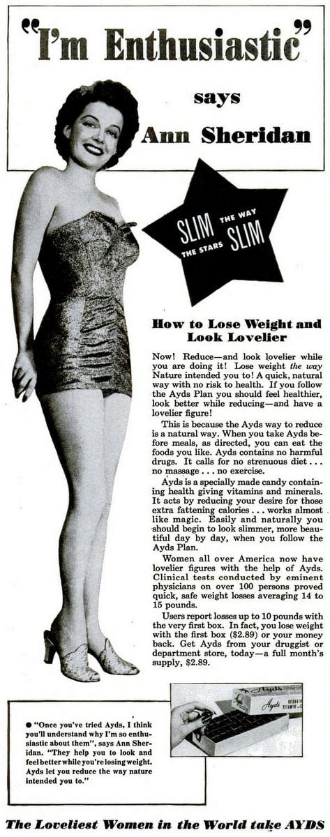 Ann Sheridan for Ayds diet