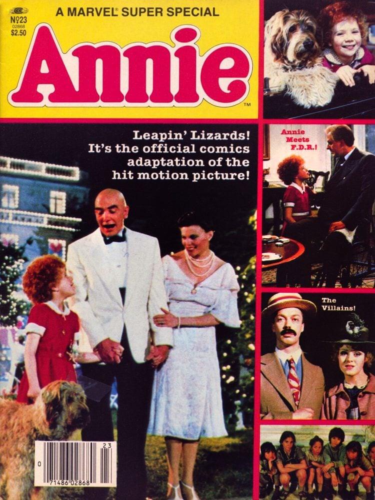 Annie 1982 movie Marvel special magazine comic
