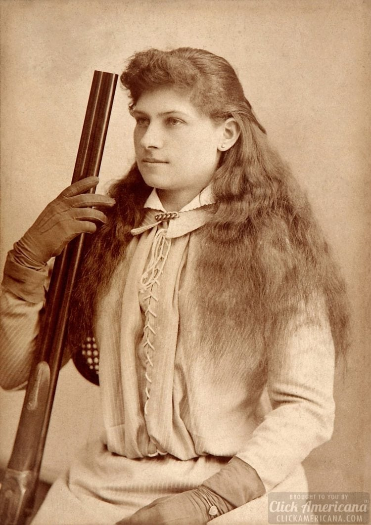 Annie Oakley Cabinet Card 1880s