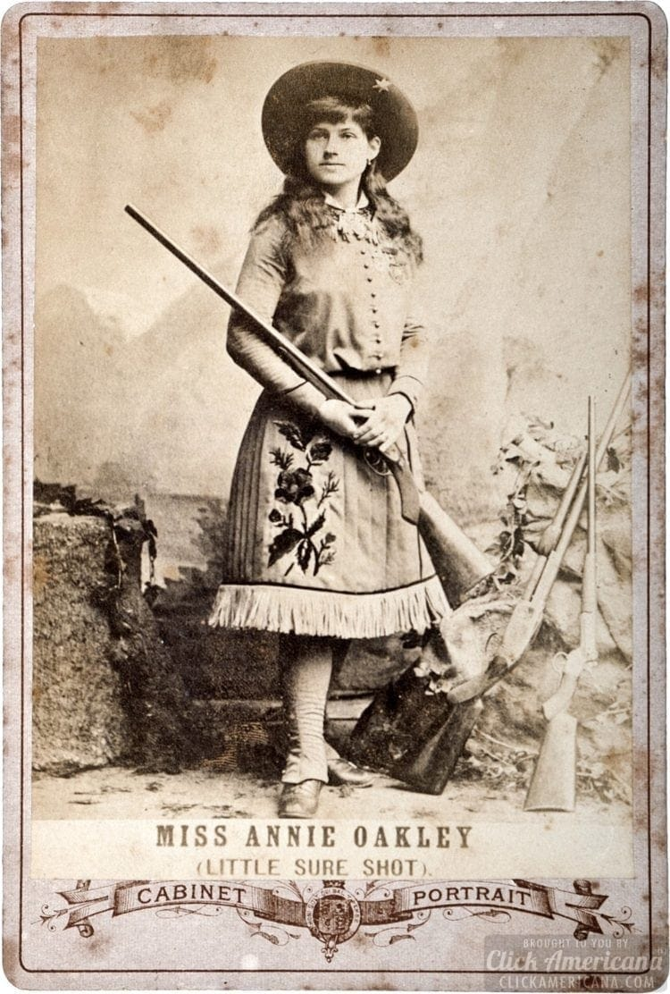 Annie Oakley Little Sure Shot cabinet card