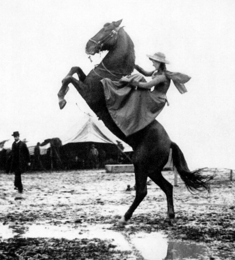 Annie Oakley with Buffalo Bills Wild West show Italy 1890