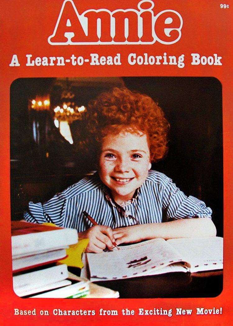Annie coloring book