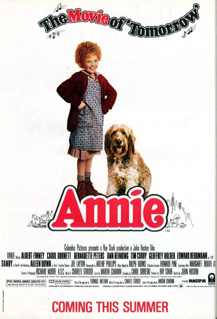 Annie movie coming soon - 1982