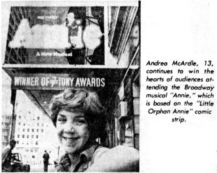 Annie on Broadway - 1977 musical starring Andrea McArdle