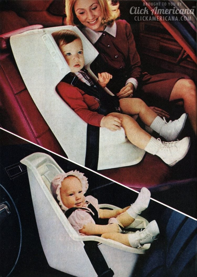 GM's vintage Love Seats: Retro child car safety seats (1973)