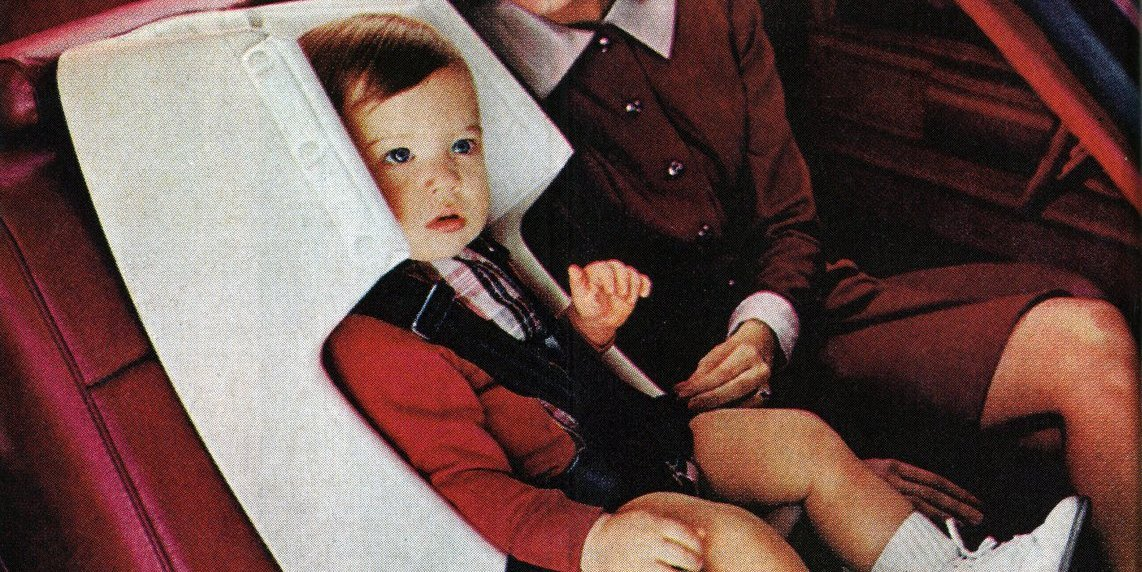 GM's new Love Seats: Child car safety seats (1973)