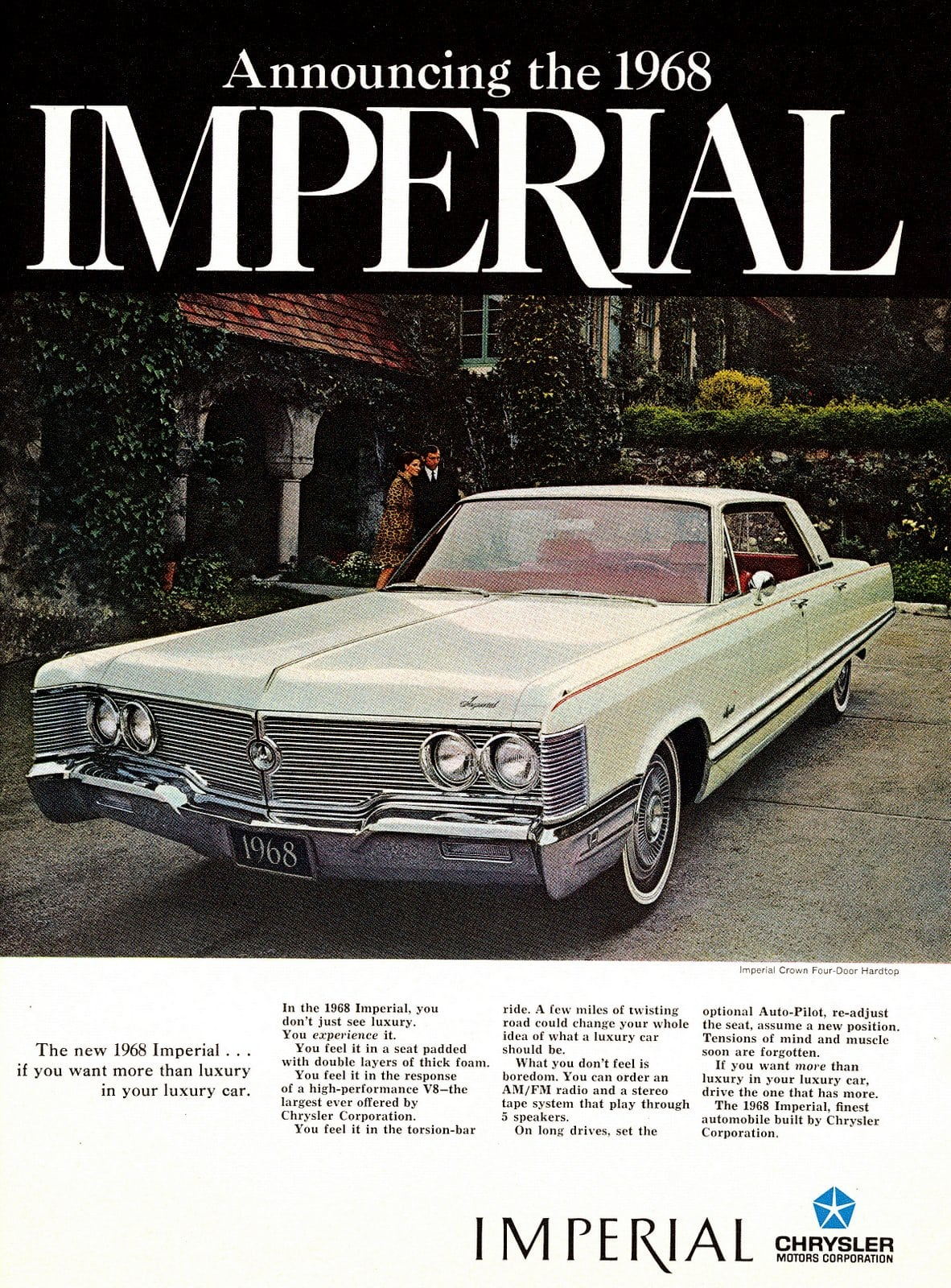 Announcing the 1968 Imperial (1967)