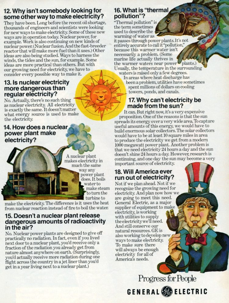 Answers to common questions about electricity (1975)