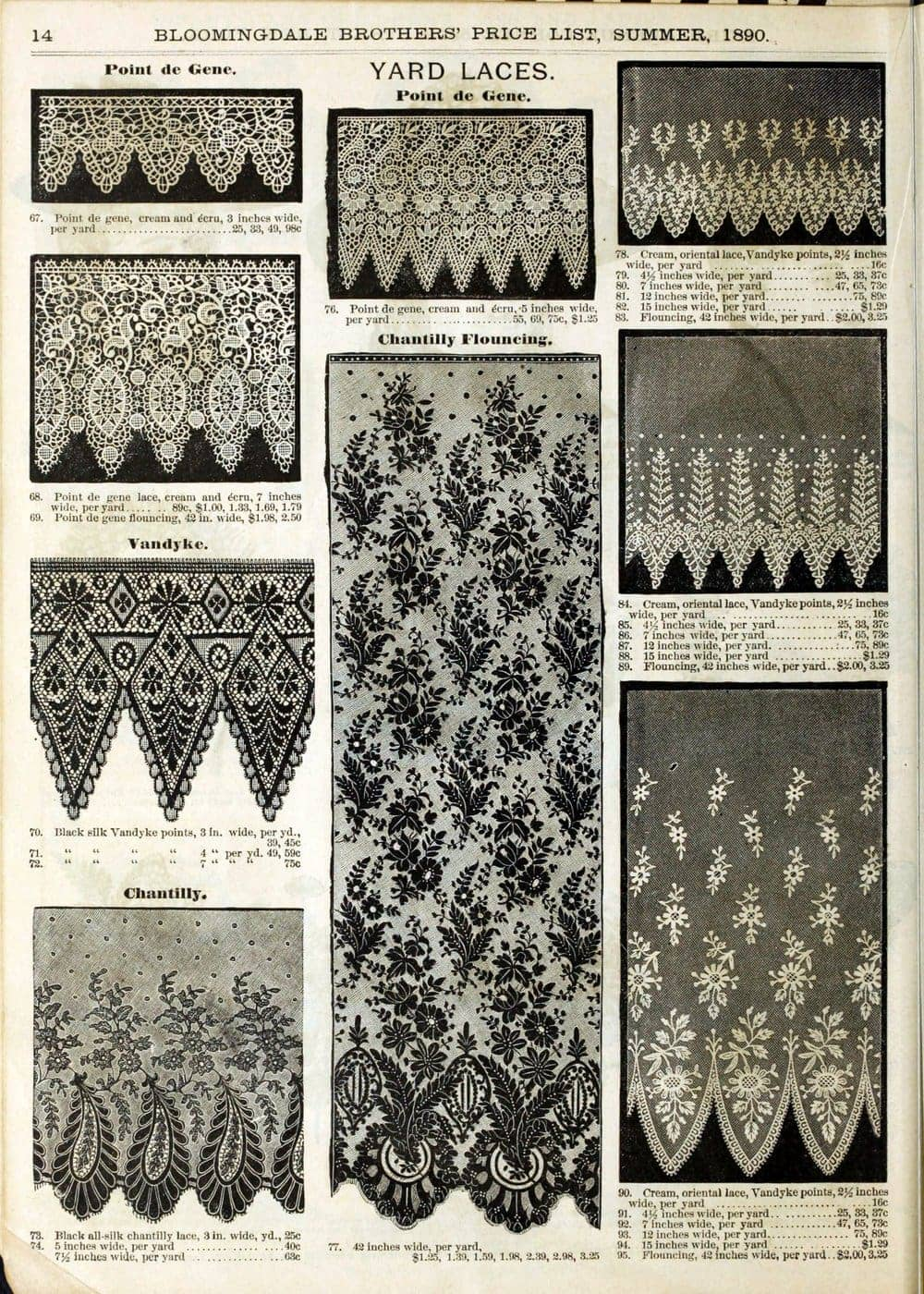 Antique 1890 Bloomingdale's catalog page 16