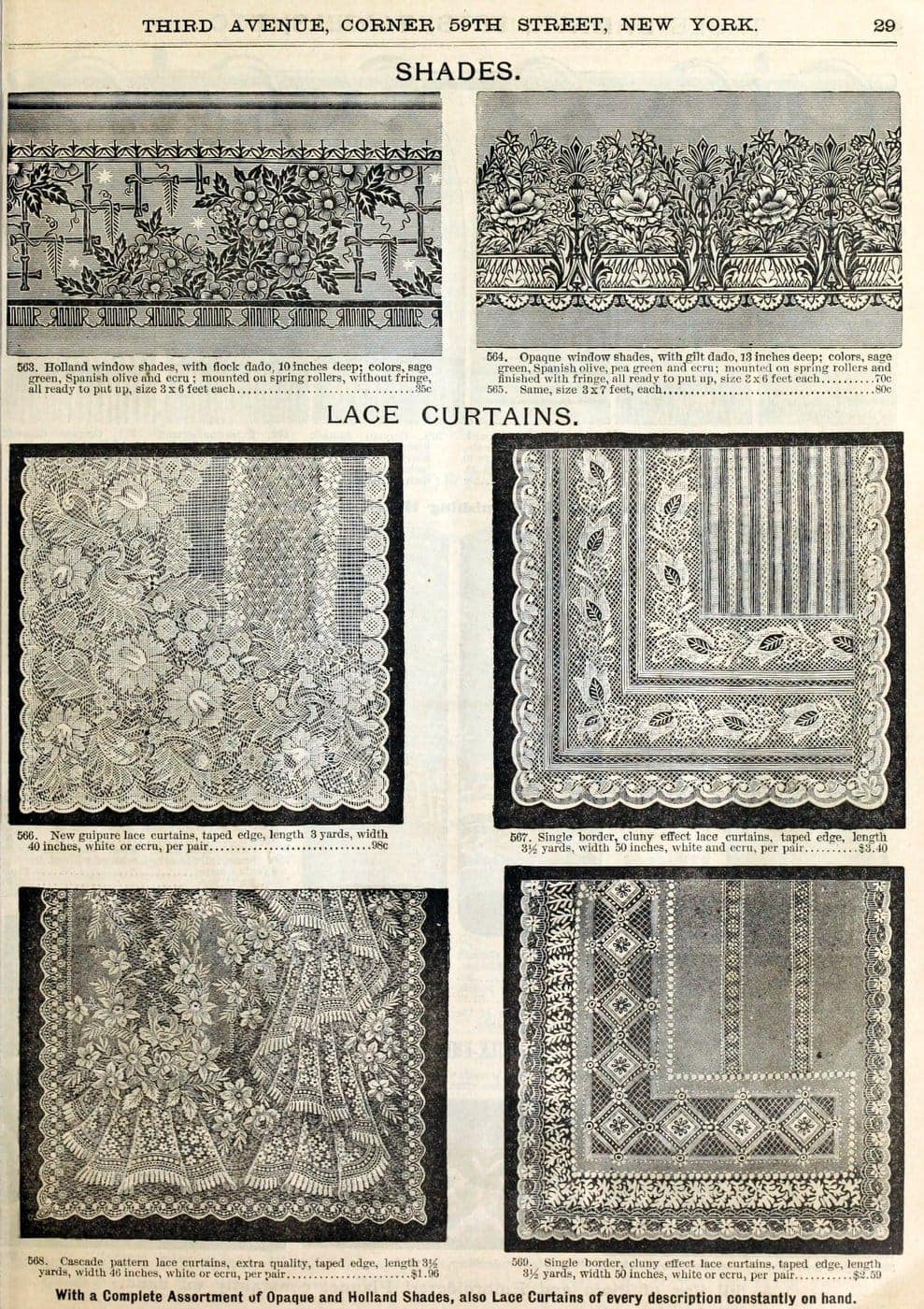 Antique 1890 Bloomingdale's catalog page 31