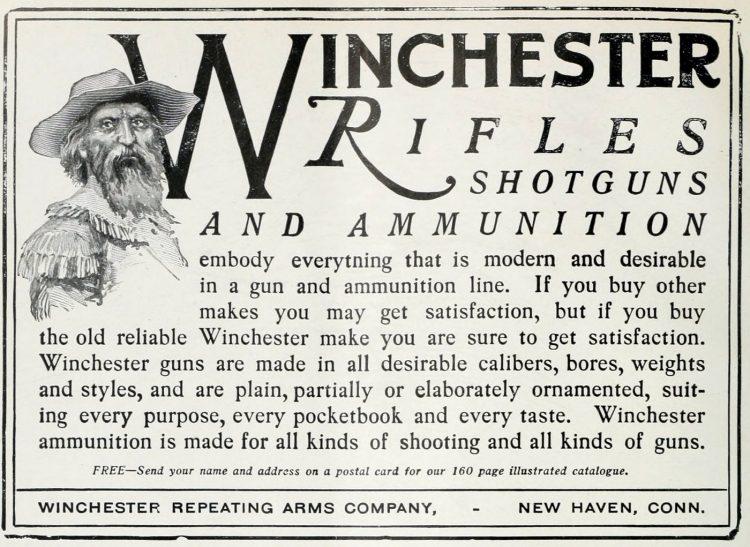 Antique 1900s Winchester rifles, shotguns and ammunition