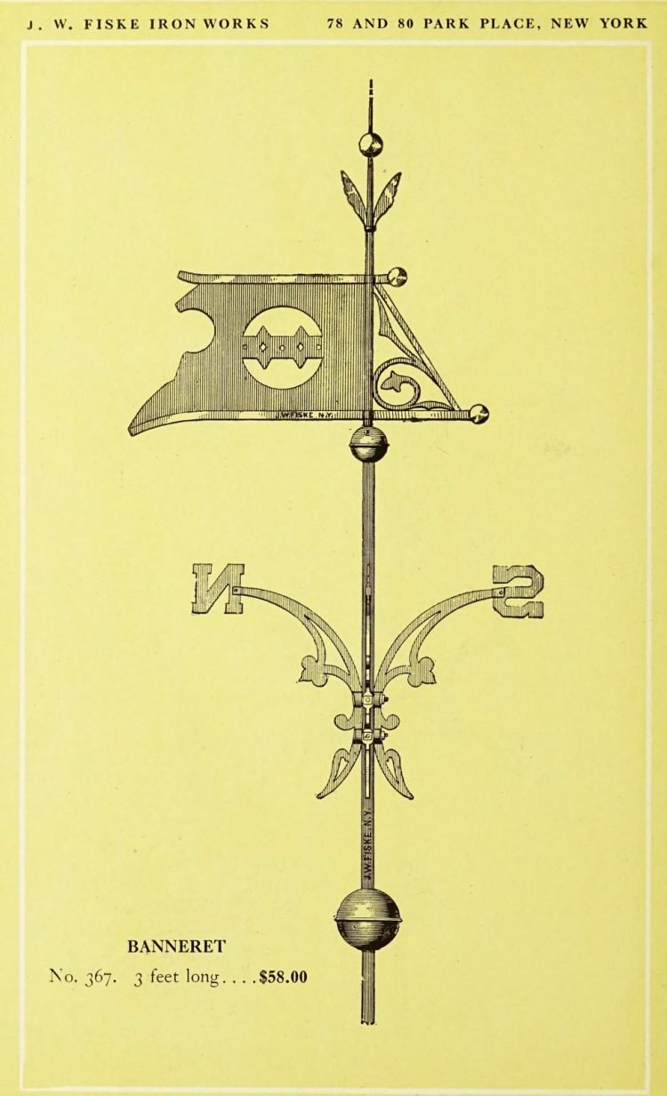 Antique 1920s weather vanes - Metal designs from 1921 (1)