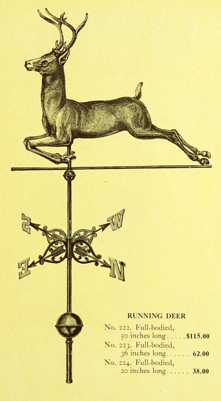 Antique 1920s weather vanes - Metal designs from 1921 (10)
