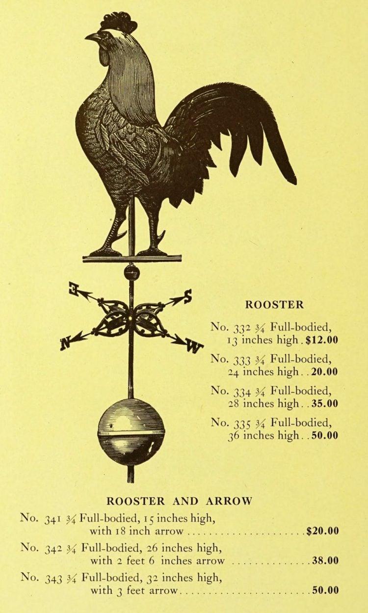 Antique 1920s weather vanes - Metal designs from 1921 (13)
