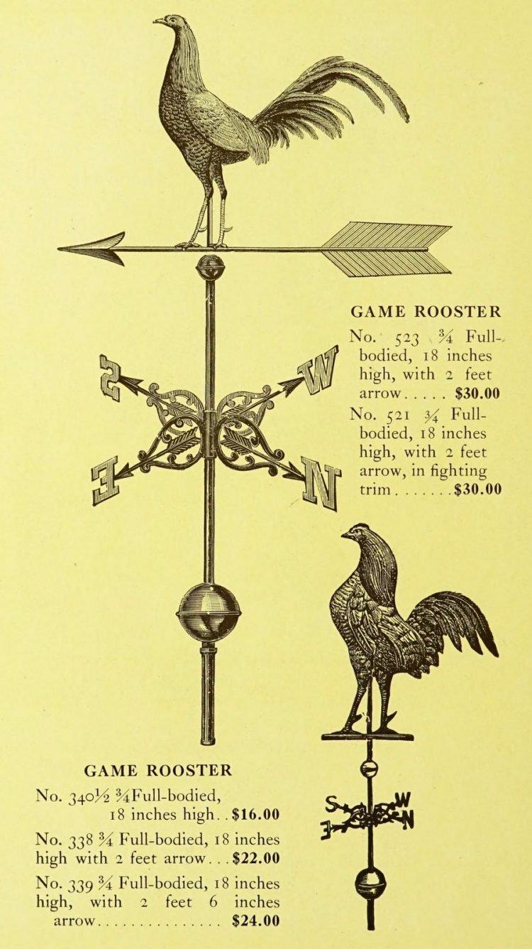 Antique 1920s weather vanes - Metal designs from 1921 (14)