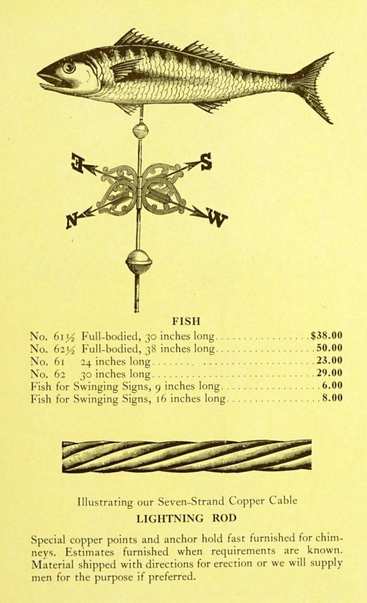 Antique 1920s weather vanes - Metal designs from 1921 (15)