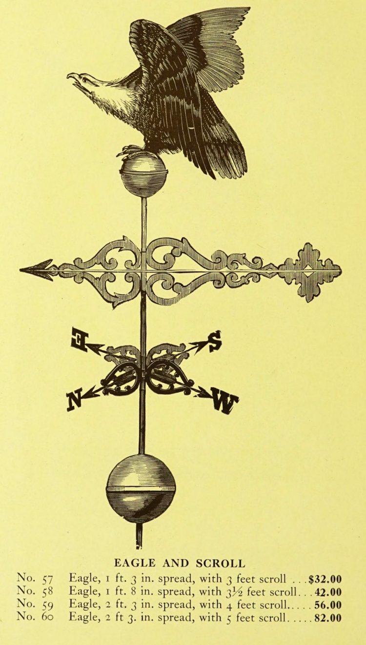 Antique 1920s weather vanes - Metal designs from 1921 (16)