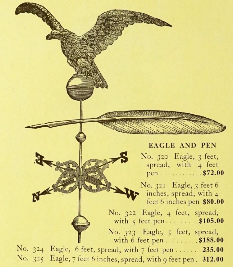 Antique 1920s weather vanes - Metal designs from 1921 (17)
