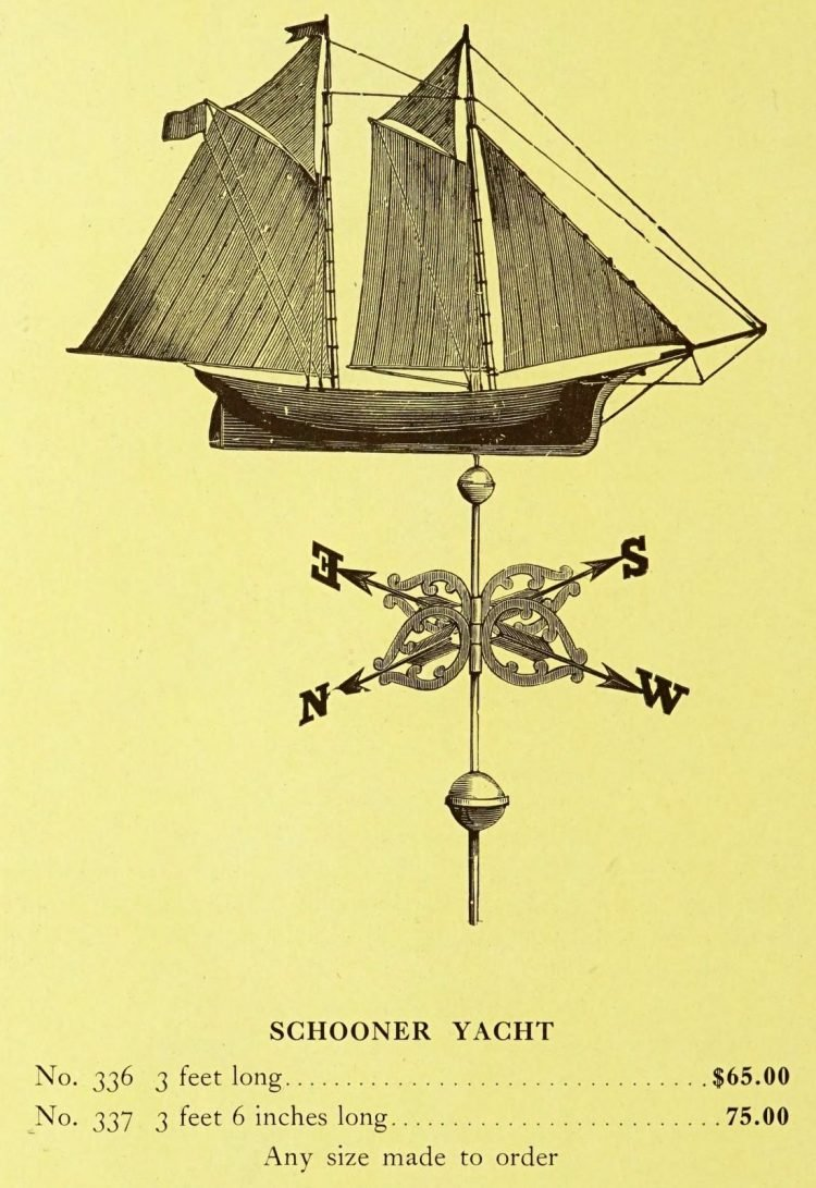 Antique 1920s weather vanes - Metal designs from 1921 (18)