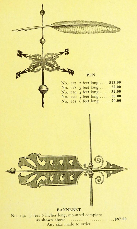Antique 1920s weather vanes - Metal designs from 1921 (20)