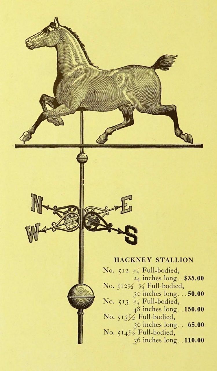 Antique 1920s weather vanes - Metal designs from 1921 (6)