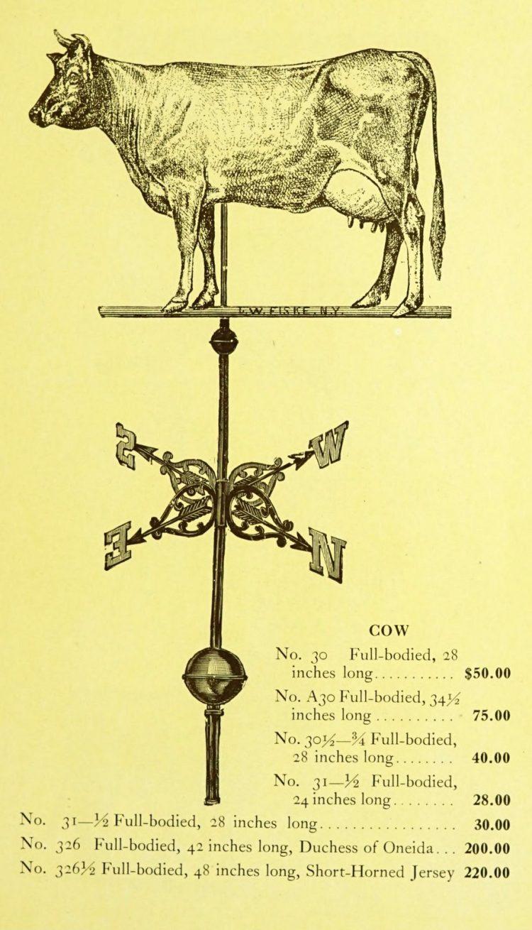 Antique 1920s weather vanes - Metal designs from 1921 (8)