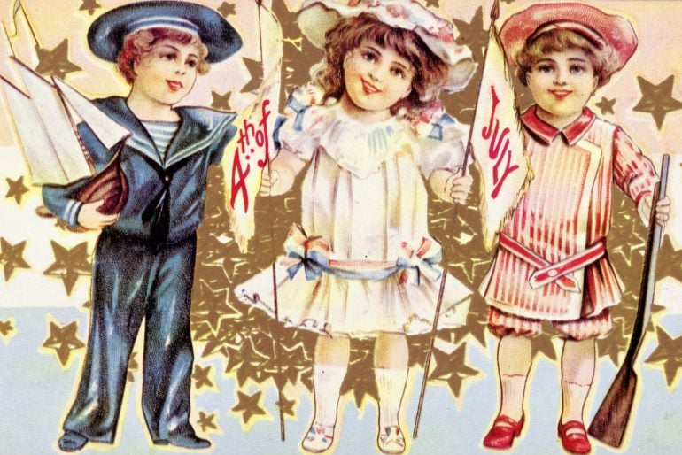 Antique 4th of July postcard c1900s
