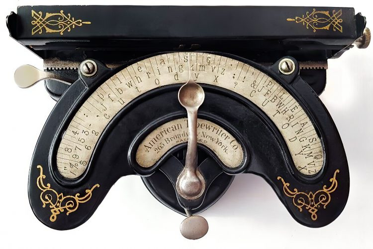 Antique American Typewriter Co - Victorian index typewriter