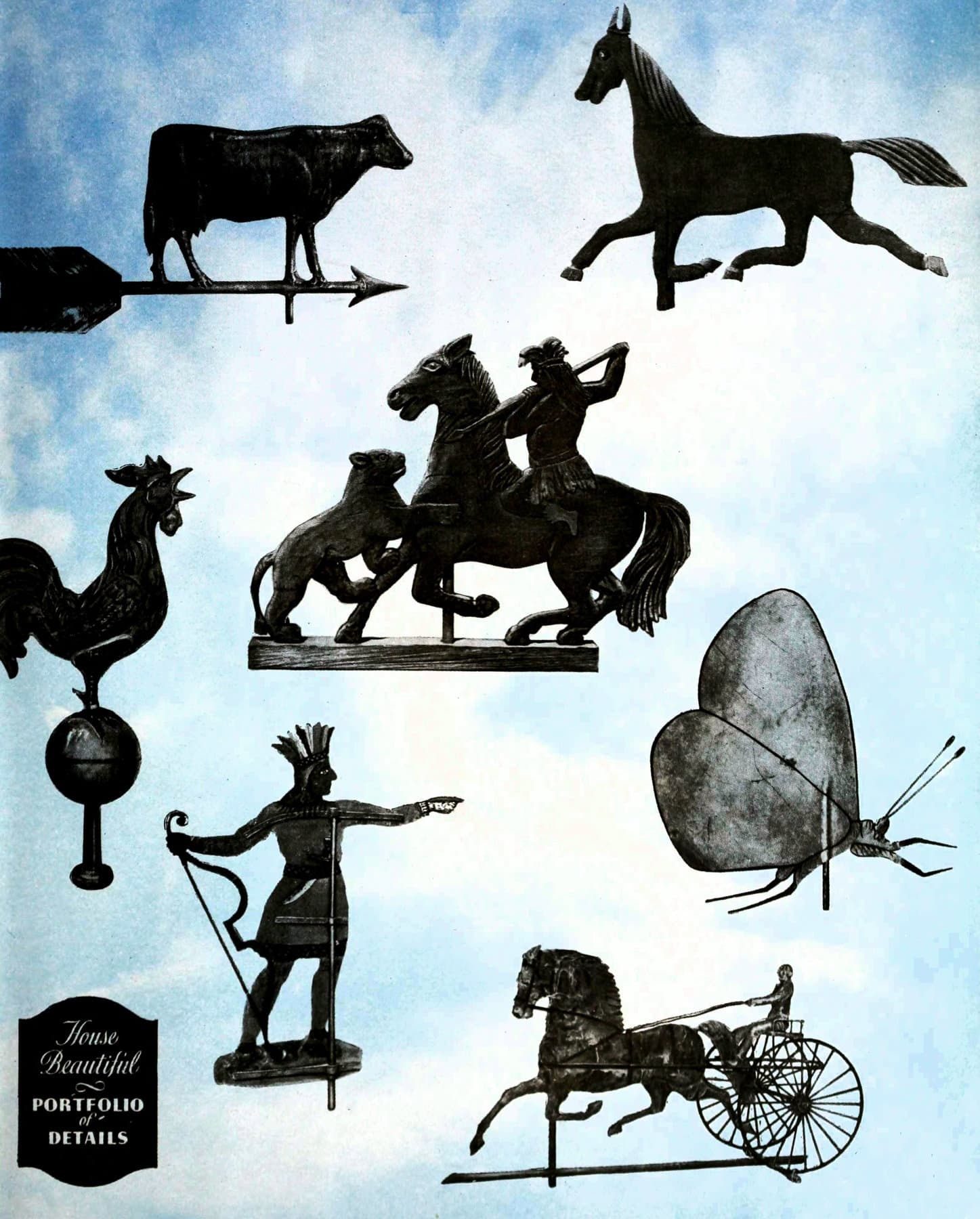 Antique Early American weathervanes