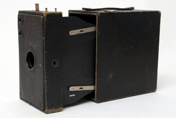 Antique Kodak Brownie camera - close up view