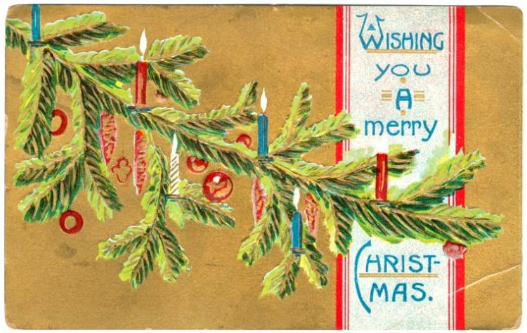 Antique Christmas postcards (2)