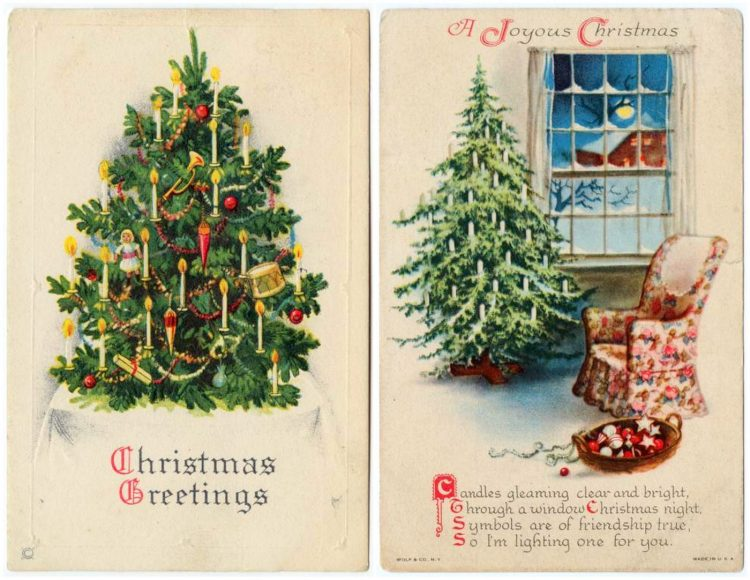 Antique Christmas postcards (3)