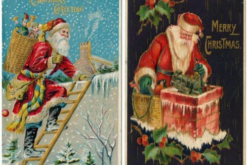Antique Christmas postcards (4)