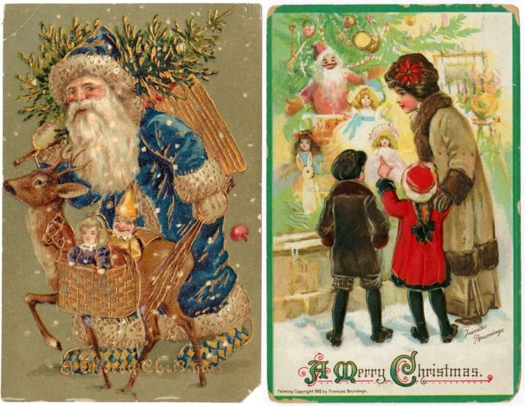 Antique Christmas postcards (5)
