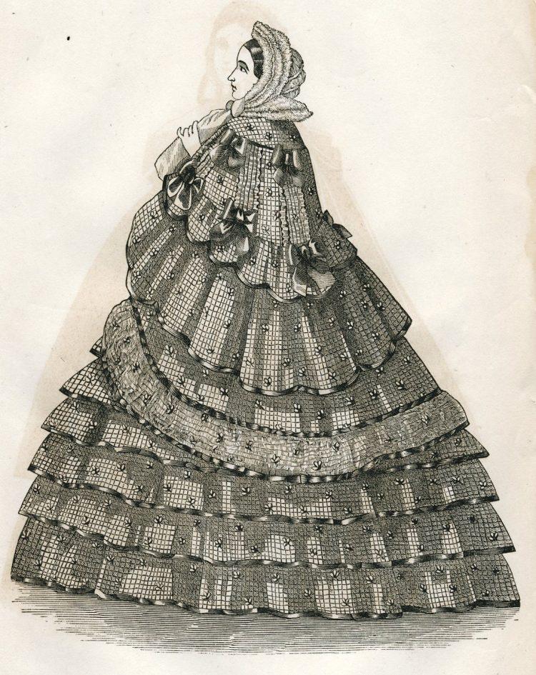 Antique Civil War dresses from 1861 (3)