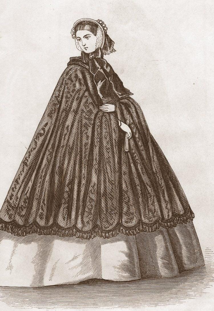 Antique Civil War dresses from 1861 (4)
