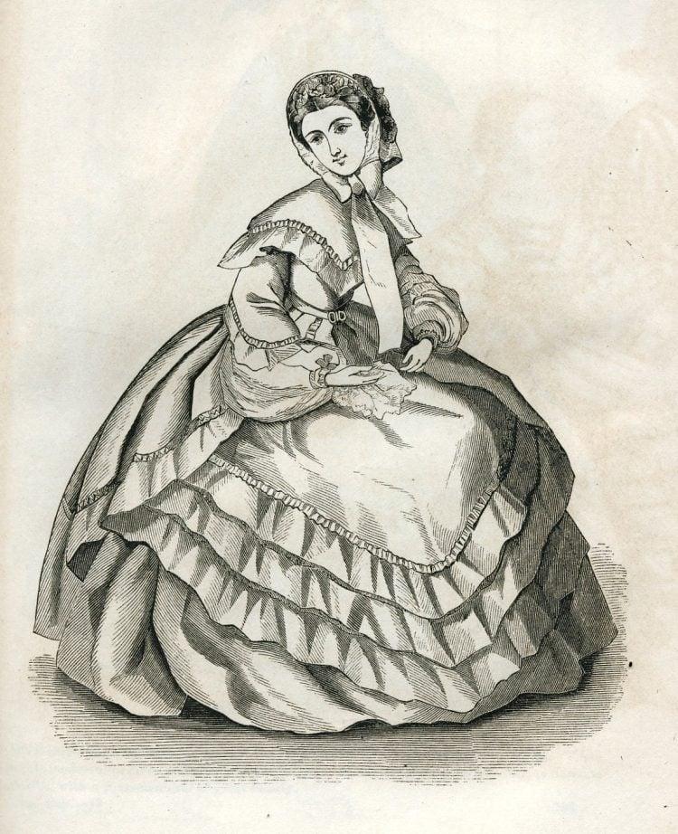 Antique Civil War dresses from 1861 (5)