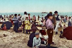 Antique Coney Island beach scene from 1902