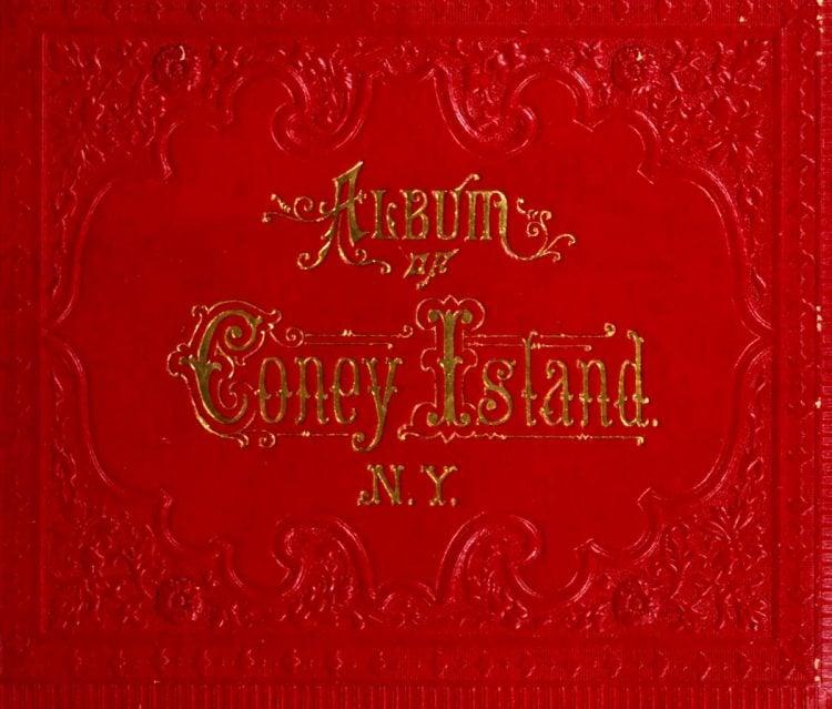 Antique Coney Island photo album from 1890 (1)