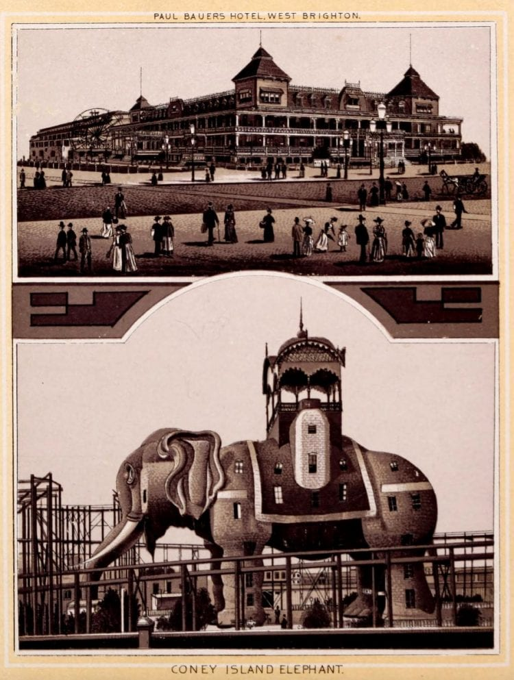 Antique Coney Island photo album from 1890 (9)