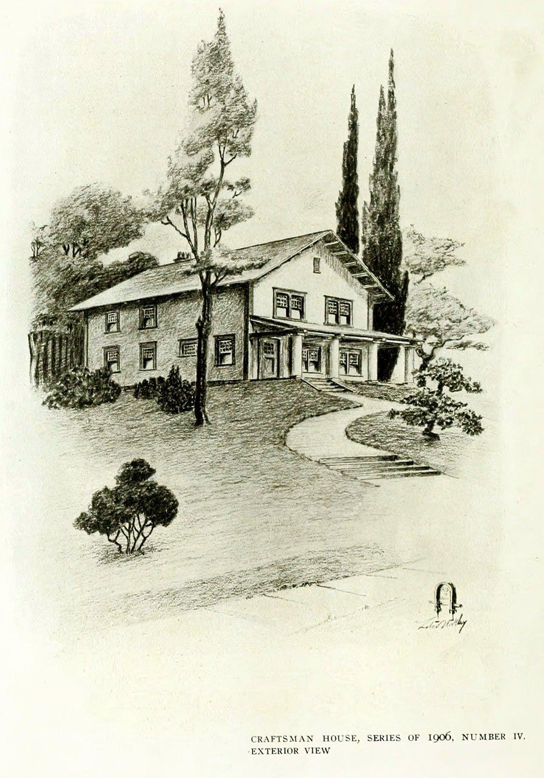 Antique Craftsman home design (1906)