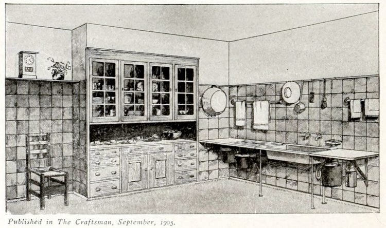 Antique Craftsman kitchen