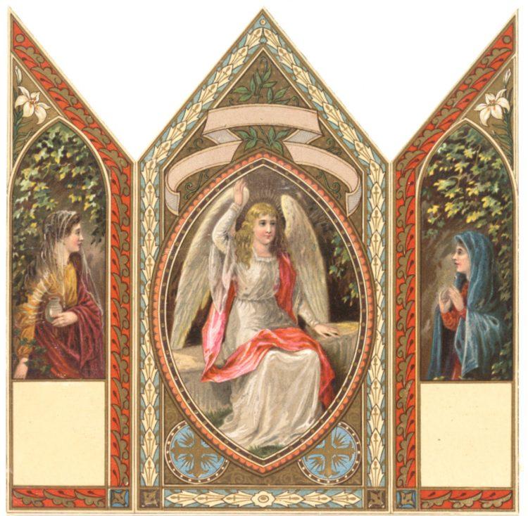 Antique Easter card panels