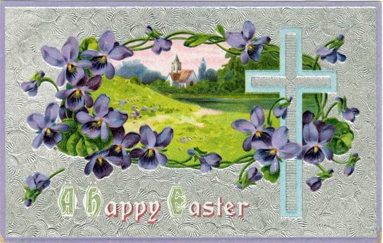 Antique Easter postcard from 1910