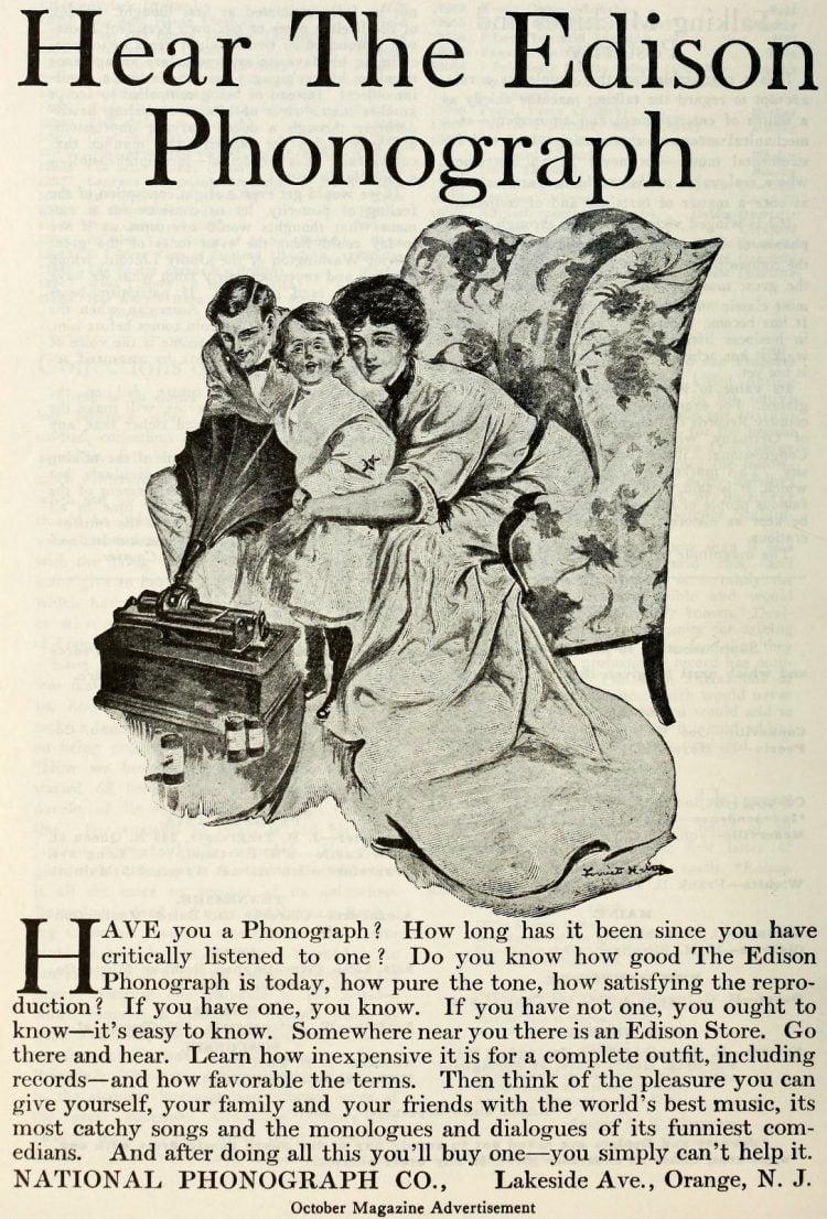 Antique Edison phonographs 1906 1907 1908 (1)