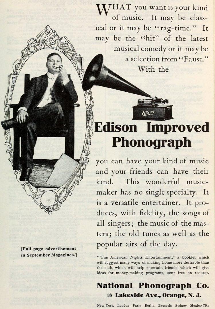 Antique Edison phonographs 1906 1907 1908 (2)