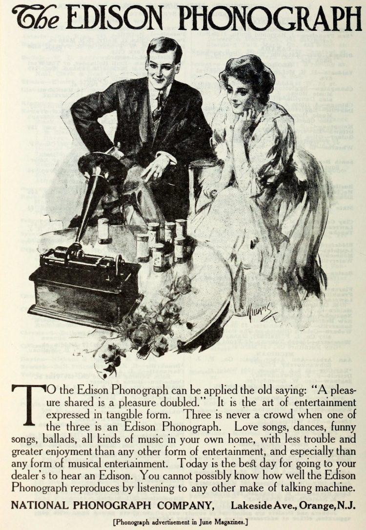 Antique Edison phonographs 1906 1907 1908 (3)