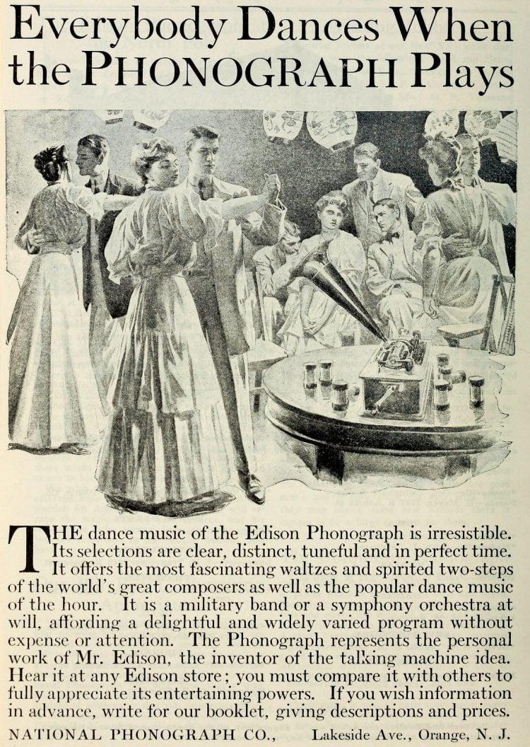 Antique Edison phonographs 1906 1907 1908 (4)