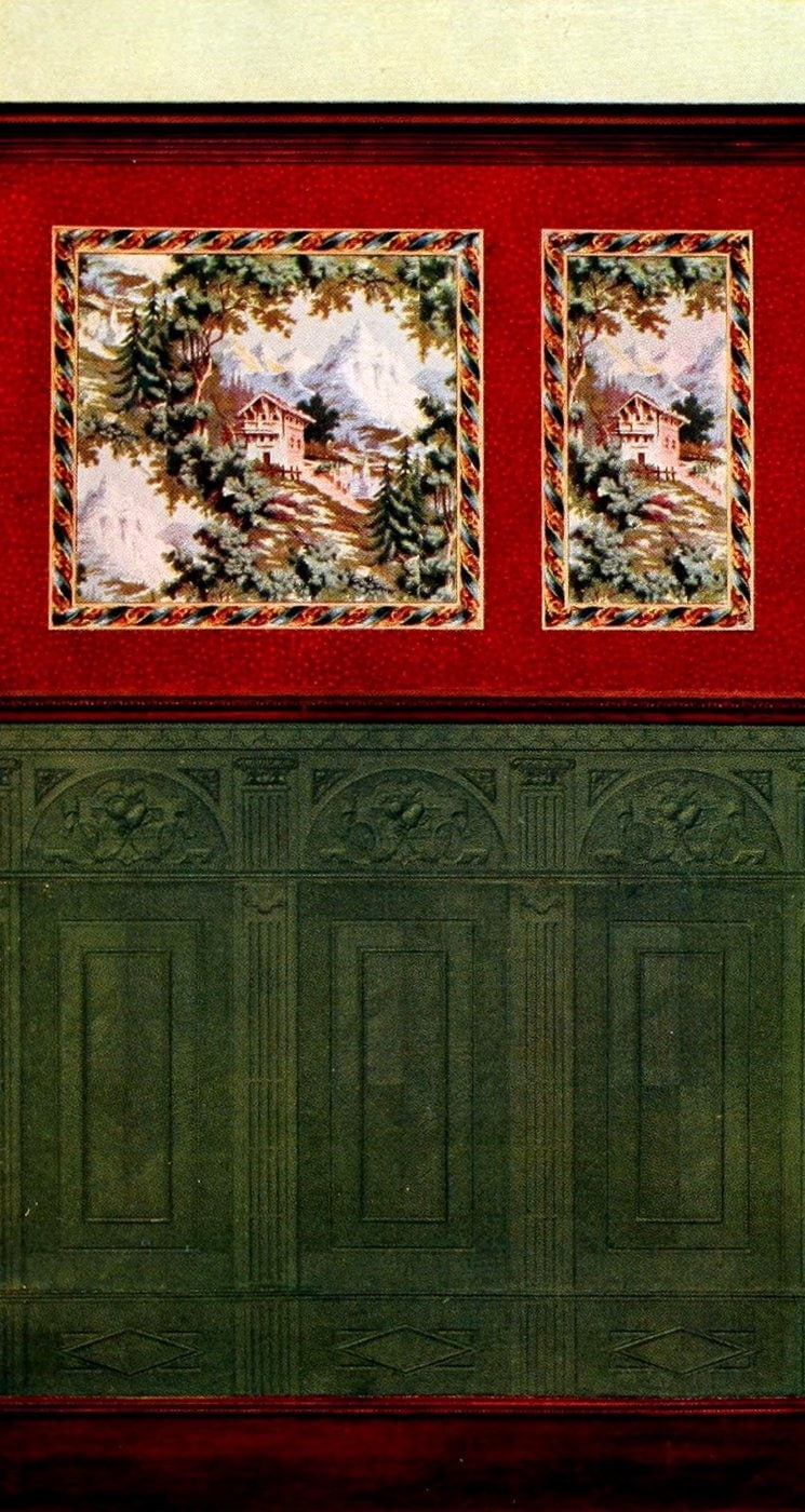 Antique Edwardian wall decor and wallpaper suggestions from 1906 (10)