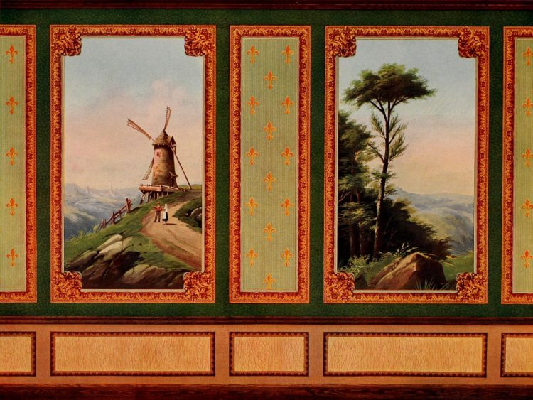 Antique Edwardian wall decor and wallpaper suggestions from 1906 (14)